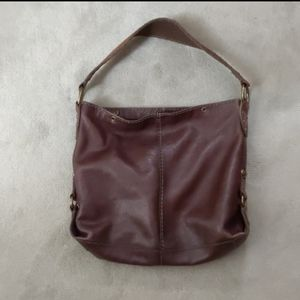 Lucky Brand brown leather boho purse